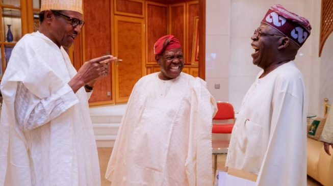 Again, Buhari hosts Tinubu, Akande in Aso Rock