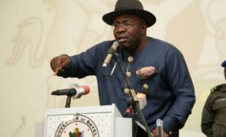 Dickson: It's an insult to say there was an election in Bayelsa