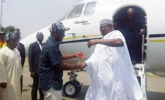 PHOTOS: Fayose lands in Benue
