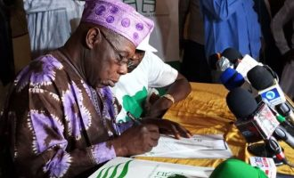 Duke, Oyinlola in Abeokuta as Obasanjo declares membership of Coalition for Nigeria Movement