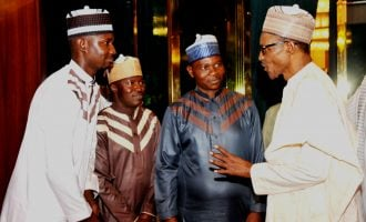 Buhari receives freed UNIMAID lecturers at Aso Rock