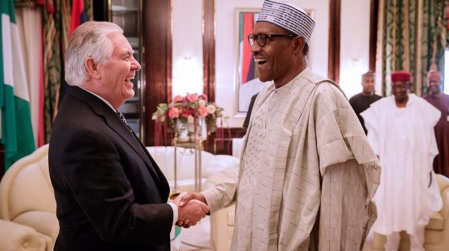 Buhari receives US secretary of state at Aso Rock