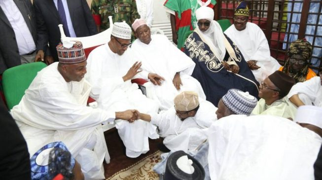 PHOTOS: Buhari, 22 governors in Kano for wedding of Ganduje, Ajimobi children