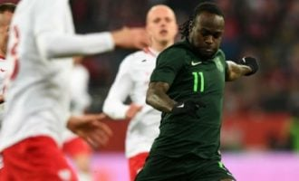 Moses' spot kick helps Eagles fly past Poland