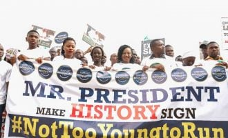 Youth storm Aso Rock over 'Not too young to run' bill