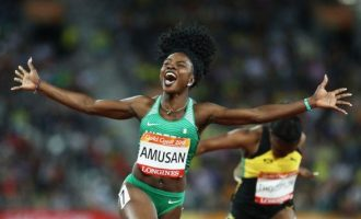 WATCH: The moment Amusan made history at Commonwealth Games