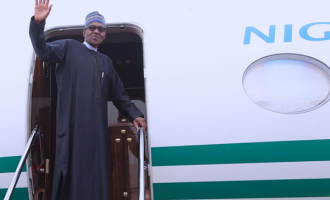 VIDEO: Buhari departs for UK
