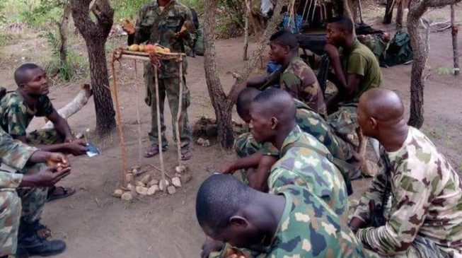 PHOTO: Soldiers hold Easter service inside Sambisa forest