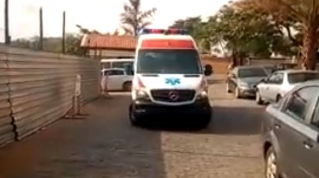 VIDEO: The moment Melaye arrived hospital in ambulance