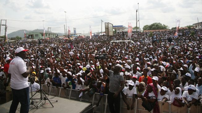 Thousands storm Ado Ekiti as Fayemi declares governorship ambition