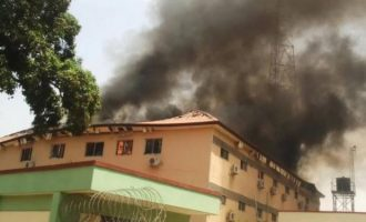 Fire guts Kaduna electoral commission headquarters — weeks before LG poll
