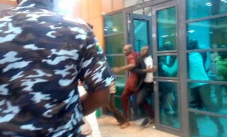 Mace snatched as Omo-Agege breaks into senate with 'thugs'