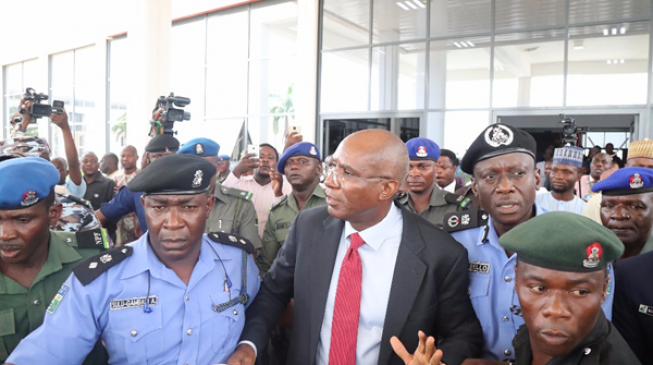 VIDEO: Police arrest Omo-Agege