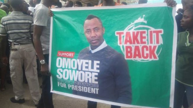 'Buhari's death threat reckless' — Sowore's party accuses president of voter intimidation