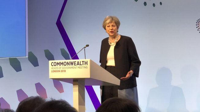 Theresa May calls to end laws against same-sex marriages in the Commonwealth
