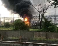 Fire outbreak at Alagbon power station