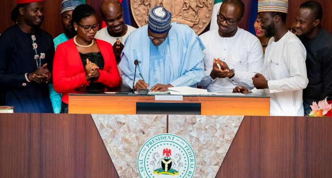 Buhari signs 'Not Too Young To Run' bill into law