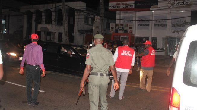 EFCC raids top club in Lagos, arrests 12 'internet fraudsters'