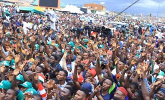 PHOTOS: Thousands storm PDP mega rally in Osun