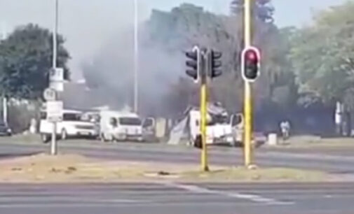 VIDEO: Robbers blow up cash vans in broad daylight in South Africa