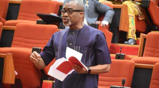 I would have made you sweat, Abaribe tells Akpabio at ministerial screening