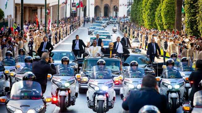 VIDEO: Buhari's arrival in Morocco