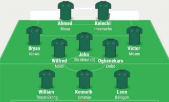 Rohr names Eagles starting XI for Iceland, switches to 3-5-2 formation