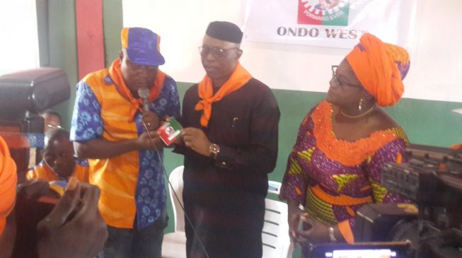 Mimiko picks Labour Party membership card despite controversy
