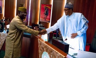 Losers shouldn't resort to self-help, says Buhari as he congratulates Fayemi