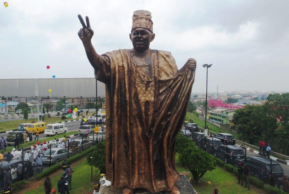 Lagos unveils statue of MKO Abiola