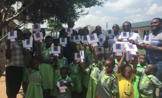 Club donates books to public schools in Surulere