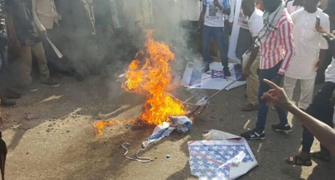 Tension in Abuja as Shi'ites burn flags of US, Israel