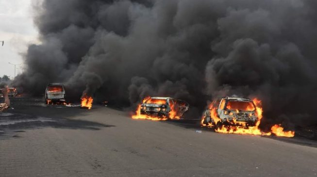 Fuel tanker explodes in Lagos