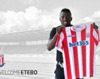 Etebo joins Stoke City on five-year deal