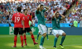Champions Germany crash out of World Cup