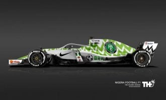 World Cup meets Formula One: How Super Eagles jersey would look like on F1 car
