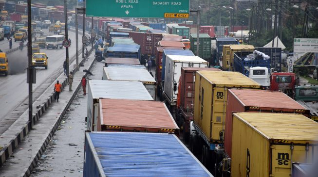 Buhari orders immediate removal of trucks causing gridlock in Apapa
