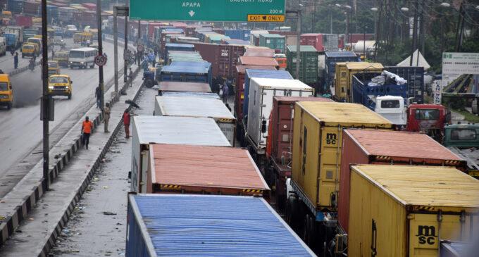 Buhari orders immediate removal of trucks causing gridlock in Apapa