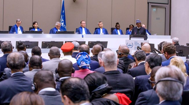 Report yourself to ICC, PDP tells Buhari