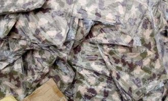 Customs: We seized military camouflage that could serve four battalions of soldiers