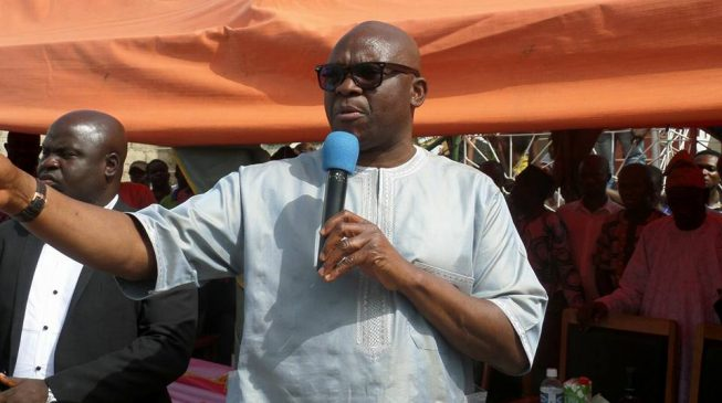 Fayose presents N10bn request to Ekiti assembly — one month to handover
