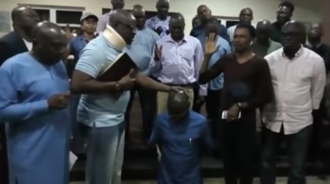 'I disarm Buhari' —  Fayose lays hand on his deputy in new video