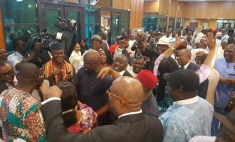 PDP reps celebrate defection of 14 APC senators