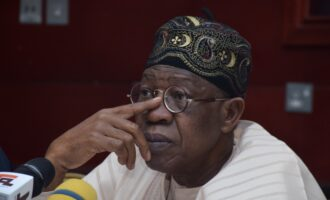 Lai Mohammed's town criers: What a sorry sight