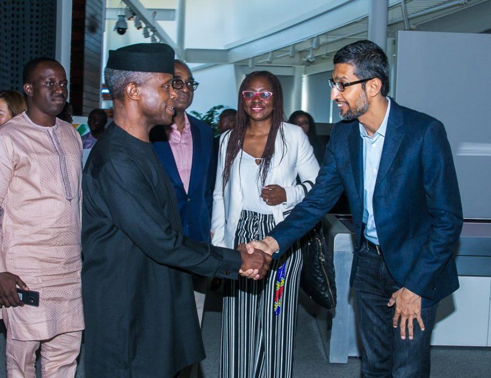 Osinbajo visits Google, LinkdedIn offices in US