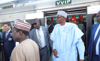 PHOTOS: Buhari inaugurates Abuja light rail