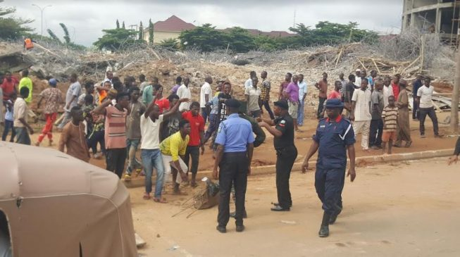 'People are under the ground' — protest as rescue effort ends at collapsed Abuja building