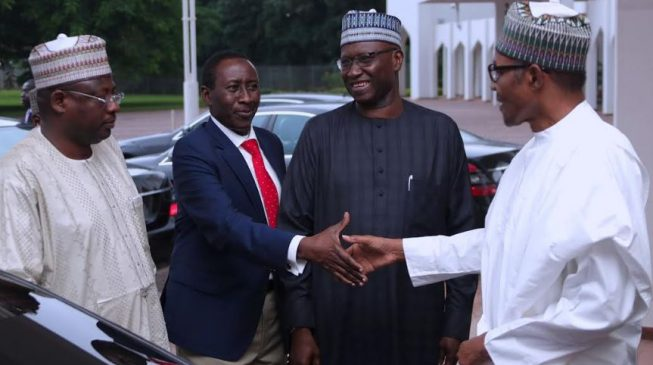 PHOTOS: Buhari heads to Daura for Sallah