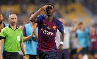 Dembele fires Barcelona to Super Cup win over Sevilla