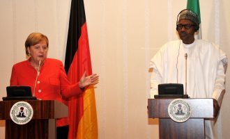 Buhari receives Merkel at Aso Rock